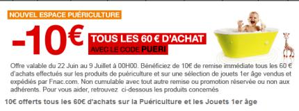Code promo fnac.com puericulture, équipements bébé