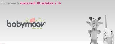 Vente privée équipement bébé Babymoov octobre 2012