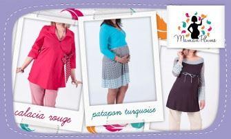Ventes privées vêtements de maternité Maman plume octobre 2012 sur couffin privé