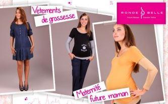 vente privée vetements grossesse ronde & belle janvier 2013 sur couffin-prive.com