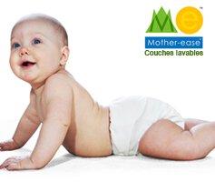 vente privée couches lavables Mother Ease mars 2013 sur bebeboutik.com