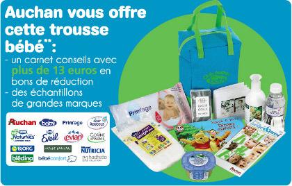 Coffret cadeau naissance gratuit chez Auchan