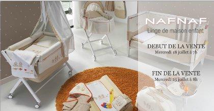 Ventes privées linge de maison bebe NafNaf showroomprive