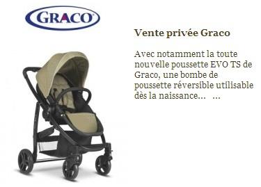 Ventes privées poussettes Graco sur Bebeours en septembre 2012