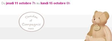 Vente privée Doudou et compagnie octobre 2012