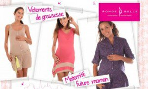 Vente privée vêtements de grossesse Ronde et Belle avril 2013 sur couffin-prive